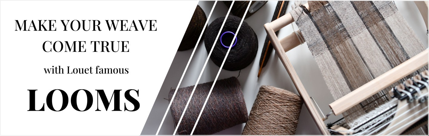 Krosna, gręplarki, kołowrotki i  akcesoria firmy  Louët